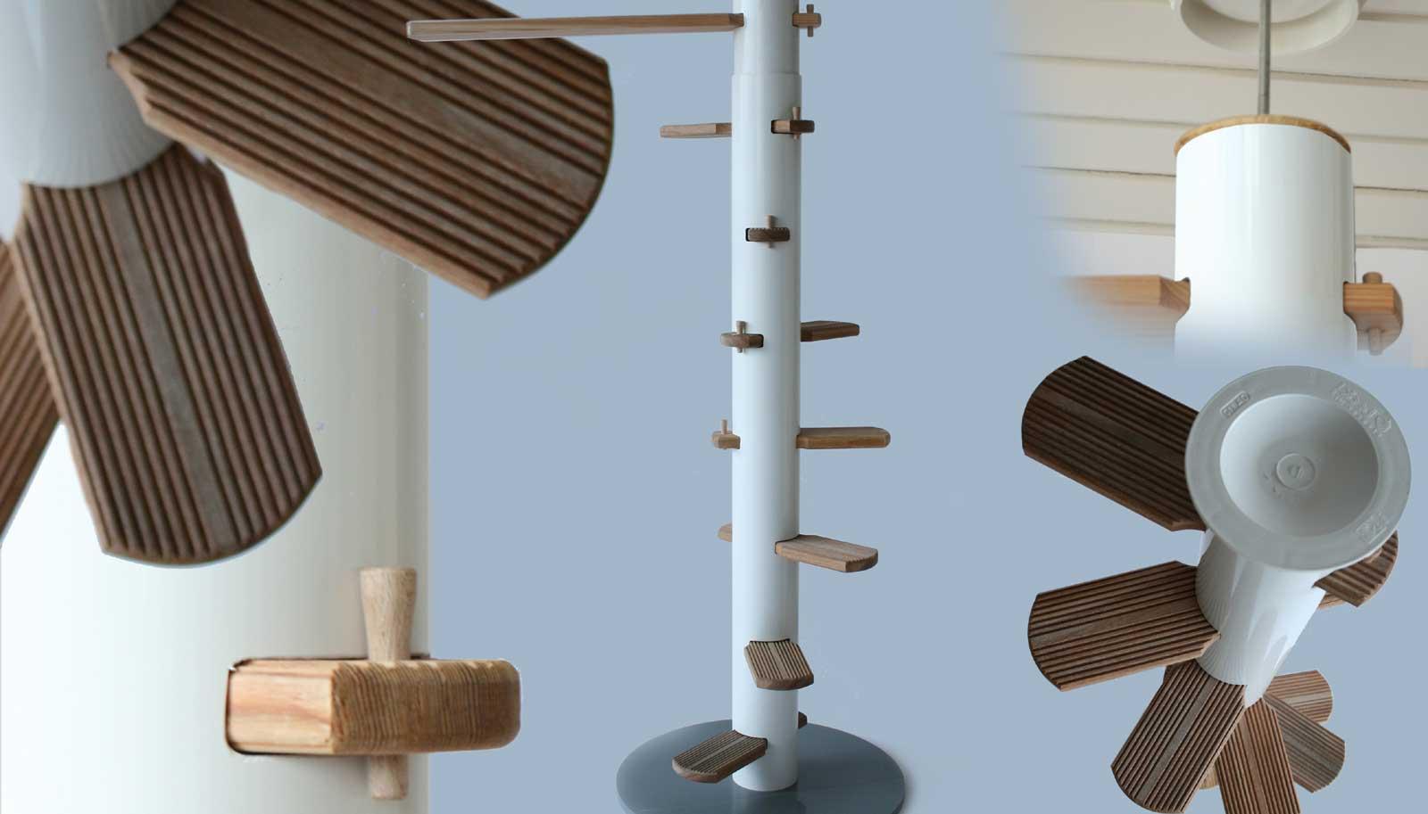 die geniale katzentreppe jede h he berwinden mit cattrip. Black Bedroom Furniture Sets. Home Design Ideas